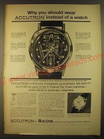 1963 bulova Accutron Spaceview and 214 Watches Ad - You should wear