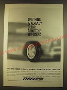 1963 Tyrex Rayon Tire Cord Ad - One thing is already clear about the 1964 cars