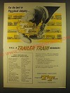 1963 TT Trailer Train Railroad Cars Ad - For the best in Piggyback shipping
