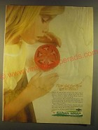 1963 Dow Saran Wrap Ad - How did the dew get in there?