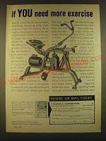 1963 Exercycle Exercise machine Ad - if you need more exercise