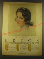 1963 Breck Shampoo Ad - Beautiful Hair