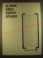 1963 United States Steel Ad - A new idea takes shape