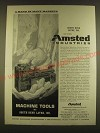 1963 Amsted Industries Ad - Machine tools by South Bend Lathe, Inc
