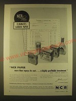 1963 NCR Paper Ad - NCR Paper more than repays its cost