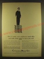 1963 Connecticut Mutual Life Ad - How to make your employees stand taller