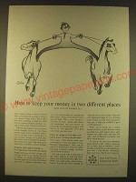 1963 Full Service Commercial Bank Ad - art by Robert Osborn - Your Money