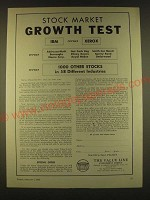 1963 The Value Line Investment Survey Ad - Stock market growth test