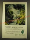 1963 Michigan Tourism Ad - Water you can have it blue, calm, green, warm, cool