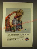 1963 Insured Savings and Loans Associations Ad - Woman makes the home