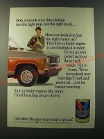 1986 Valvoline Motor Oil Ad - Bob, you took your time