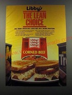 1986 Libby's Corned Beef Ad - Libby's The Lean Choice