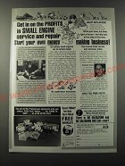 1986 Foley Belsaw Small Engine Repair Ad - Get in on profits