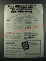 1986 Shopsmith Mark V Ad - How to add thousands of dollars to the value