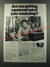 1986 Shopsmith Mark V Ad - Are you getting squeezed out of your workshop?