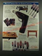 1986 Sears Craftsman Tools Ad - Prices carved out by Sears Catalog