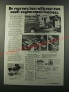 1986 NRI Schools Ad - Be your own boss with your own small-engine repair
