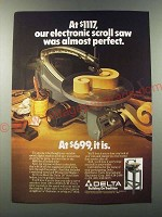 1986 Delta Scroll Saw Ad - At $1117, our saw was almost perfect
