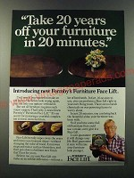 1986 Formby's Furniture Face Lift Ad - Take 20 years off your furniture