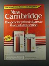 1986 Cambridge Cigarettes Ad - New Cambridge The generic cigarette