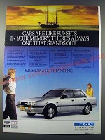 1986 Mazda 626 Car Ad - Cars are like sunsets in your memory