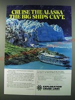 1986 Exploration Cruise Lines Ad - Cruise the Alaska the Big Ships Can't