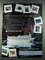 1986 Exploration Cruise Lines Ad - We found the real Alaska