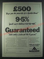 1986 Nationwide Capital Bond Ad - £500 Buys you the security of a Capital Bond