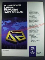 1986 Standard Bank Ad - International banking. The world's under one flag