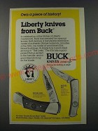 1986 Buck Knives Model 500L and Model 826 Ad - Own a piece of history!