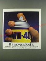1986 WD-40 Oil Ad - If it moves, shoot it