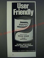 1986 Deft Wood Stain Ad - User Friendly