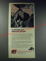 1963 National Truck Leasing System with Jim Backus Ad - A Friendly face