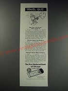 1963 The First National Bank of Chicago Travelers Checks Ad - No-See-Ums