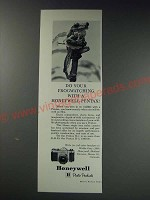 1963 Honeywell Pentax Camera Ad - Do your frogwatching with a Honeywell Pentax