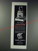 1963 Shulton York Town After Shave and Cologne Ad - for distinguished duty