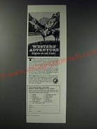 1963 Northern Pacific Railway Ad - Western Adventure begins on our train!