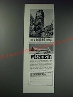 1963 Wisconsin Conservation Department Ad - for a delightful change