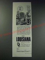 1963 Louisiana Tourist Bureau Ad - the Beauregard House