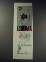 1963 Louisiana Tourist Bureau Ad - Now is the best time Enjoy Louisiana