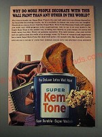 1963 Super Kem-Tone Paint Ad - Why do more people decorate with this wall paint