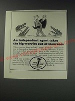 1963 Your Independent Insurance Agent Ad - Cartoon by William Steig