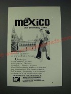 1963 Mexican Government Tourism Department Ad - friendly land