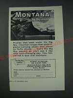 1963 Montana Tourism Ad - Montana the Big Sky country