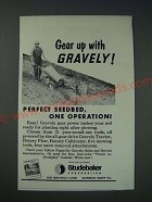 1963 Gravely Tractor Ad - Gear up with Gravely! Perfect seedbed, one operation