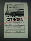1963 Citroen Cars Ad - Going to Europe this year? A Car is a must abroad