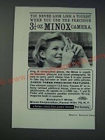 1963 Minox Camera Ad - You never look like a tourist