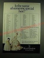 1987 Royal Doulton Porcelain Figurines Ad - Is the name of someone special here?