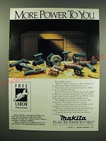 1987 Makita Cordless Power Tools Ad - More power to you