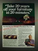 1987 Formby's Furniture Face Lift Ad - Take 20 years off your furniture
